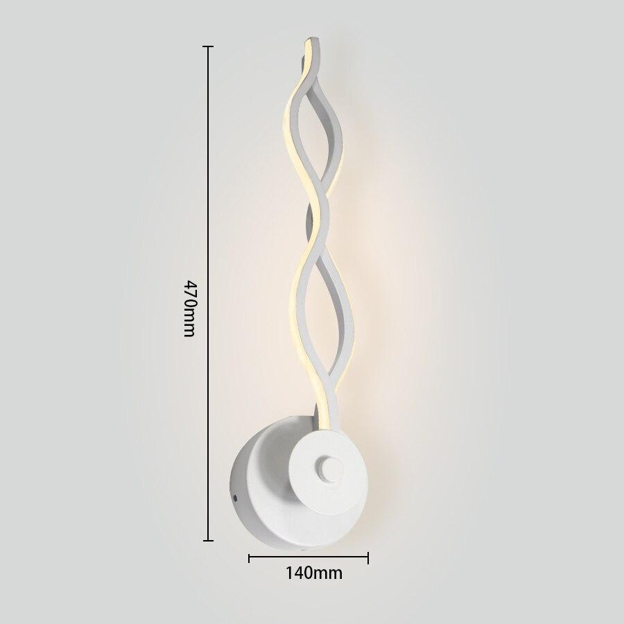 iluminação de parede lâmpadas interiores luz branca quente e luz branca fria