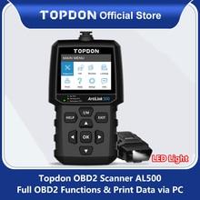 TOPDON AL500 Obd2 Car Diagnostic Tool OBD 2 Automotive Scanner Engine Analyzer Tool Code Reader Obdii Scan Tool