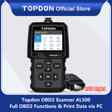 TOPDON AL500 Obd2 자동차 진단 도구 OBD 2 자동차 스캐너 엔진 분석기 도구 코드 리더 Obdii 스캔 도구