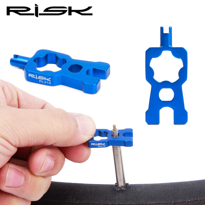 RISK 4 IN 1 Bicycle Valve Tools Wrench Multifunction Schrader/Presta Valve Core Disassembly Installation Tool For MTB Road Bike