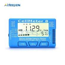 LCD Digital Battery Capacity Checker CellMeter-7 RC CellMeter 8 2-8S 4-8S Servo LiPo Li-lon NiMH Battery Tester Voltage Tester