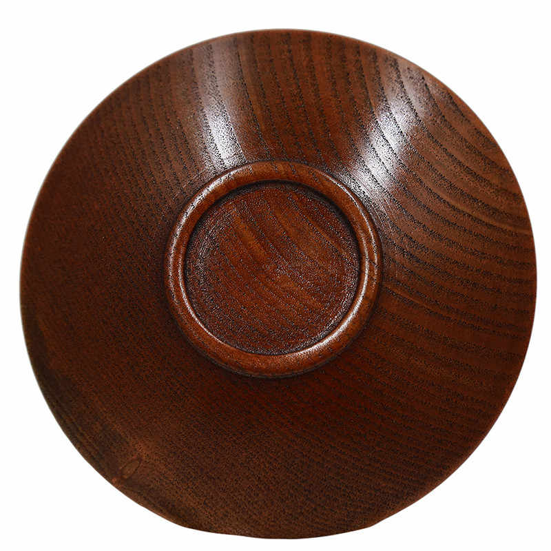 Drewniany talerz miski styl japoński stałe zastawa stołowa drewniana miska deser owocowy talerzyk deserowy kuchnia Handmade drewniana miska uniwersalna