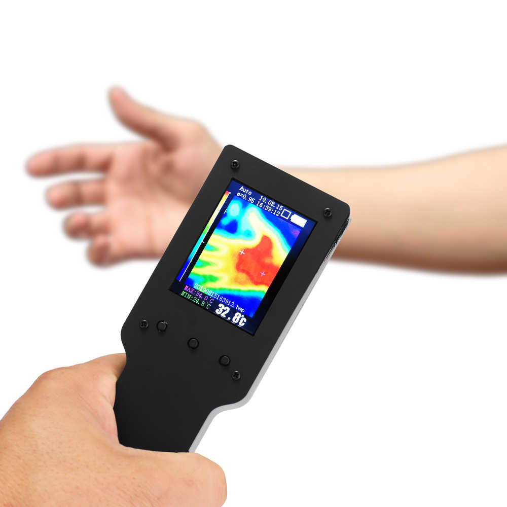 Handheld Portable Infrared Thermal Imager Thermal Imaging Camera 2.4 Inch Digital LCD Display Thermometer Alat Ukur