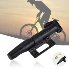 Mini Portable Bicycle Pump Bicycle Accessory Aluminum Alloy Tire Air Inflator Pump for Mountain Bike Bicycle Basketball Football tanie tanio Aubtec Z tworzywa sztucznego 20cm
