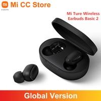 Versión Global Xiaomi Mi inalámbrica auriculares básico 2 TWS Compatible con Bluetooth auricular estéreo Bass auriculares Airdots2 AI Control