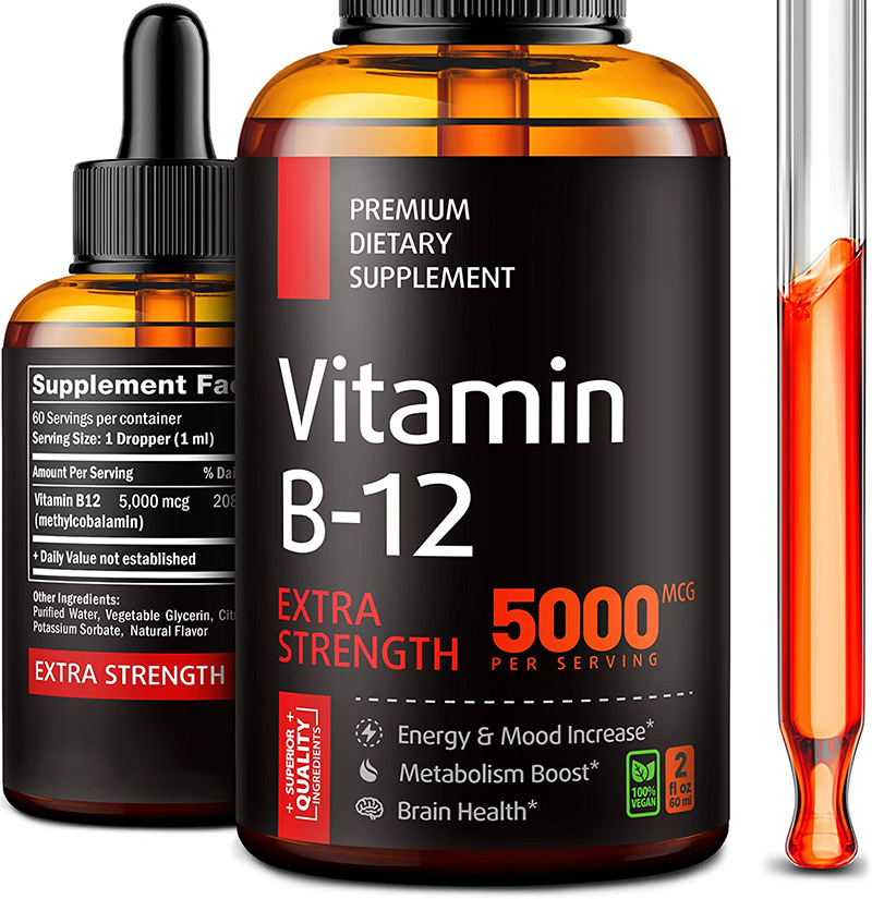 60ML Vitamin B12 Drop Supplement Vegan Essential Supplements Nutro Vegan