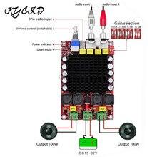 TDA7498 Digital Amplifier Board 100W*2 2.0 Channel Power AMP Class D Stereo Audio Amplifier DC 15 32V XH M510 For Home Speaker