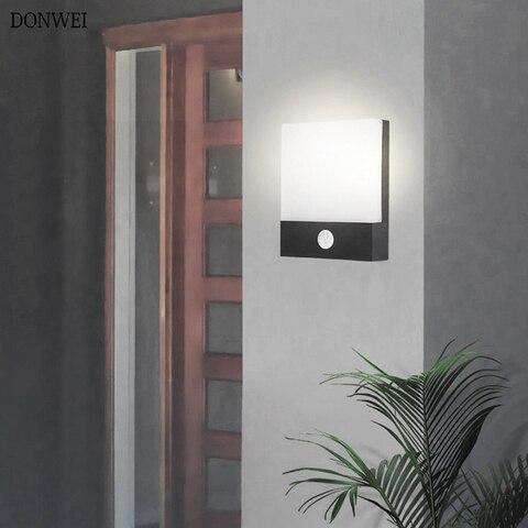 sensor de movimento ao ar livre luz conduzida da parede interior iluminacao decorativa a prova