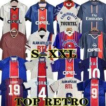 OKOCHA – T-shirt rétro pour adulte, maillot de football 93 94 95 96 LEROY ADAILTON Beckham 98 99 00 01 90 92, classique RAI ANELKA g psg
