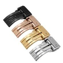 Hebilla de acero inoxidable 304 para reloj, hebilla plegable adecuada para la serie Hublot, gama alta de 18, 20, 22 y 24MM