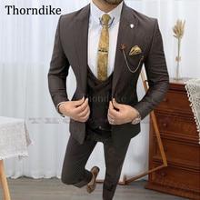 Wedding-Suits Tuxedo Groom Wear Pants Jacket Blazers Slim-Fit Business Thorndike Male