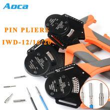 IWD-12 terminal de aviação friso alicate ferramentas harting hardin pinheavy duty conector ajuste automático ferramentas profundidade friso
