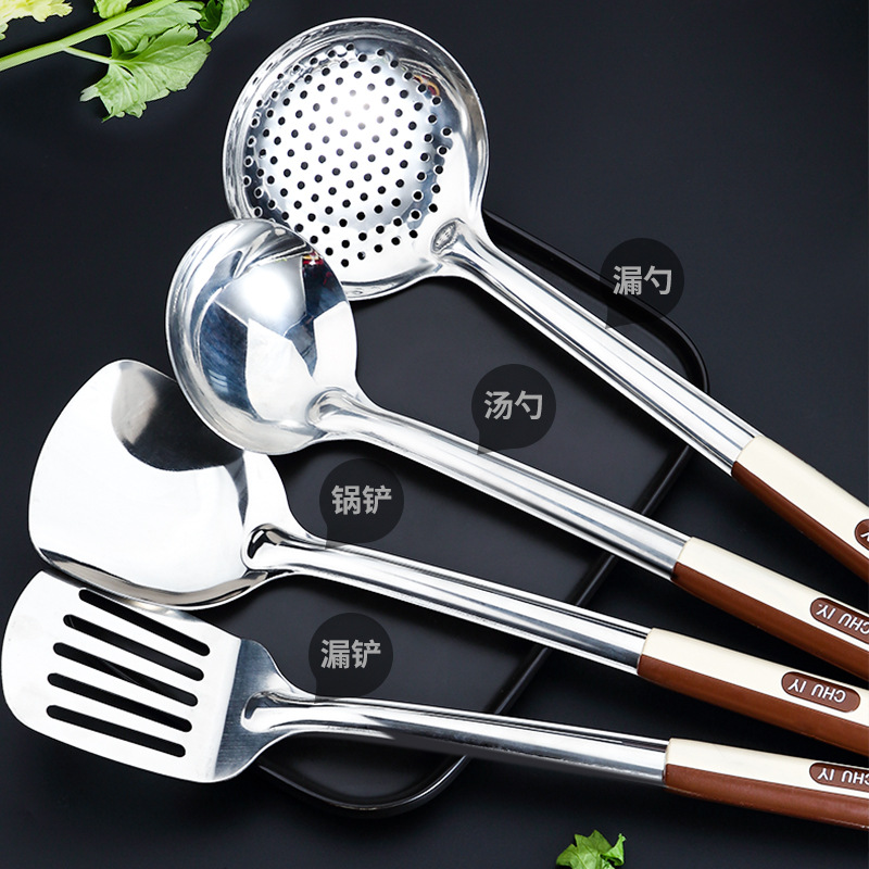 Stainless Steel Kitchen Cooking Tool Sets Turners Spatula Spoon Shovel Colander Pasta Rice Scoop Cooking Tool Set 2