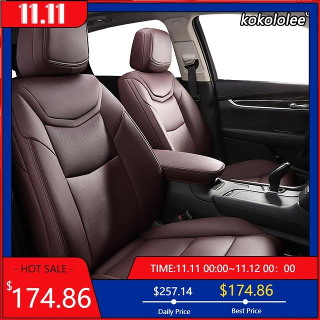 kokololee Custom Leather car seat cover For KIA Sportage Optima Cerato Forte Soul RIO K2 K3 K3S K4 K5 KX3 KX5 KX7 KX CROSS auto