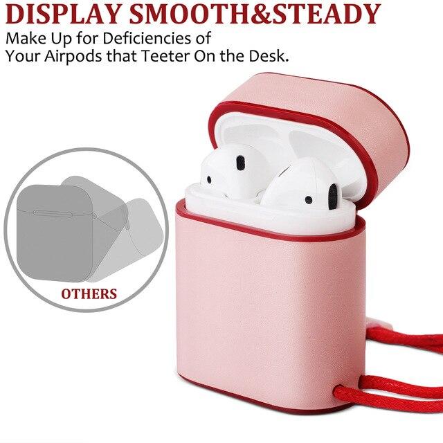 Фото кожаный чехол из микроволокна для apple airpods bluetooth беспроводные цена