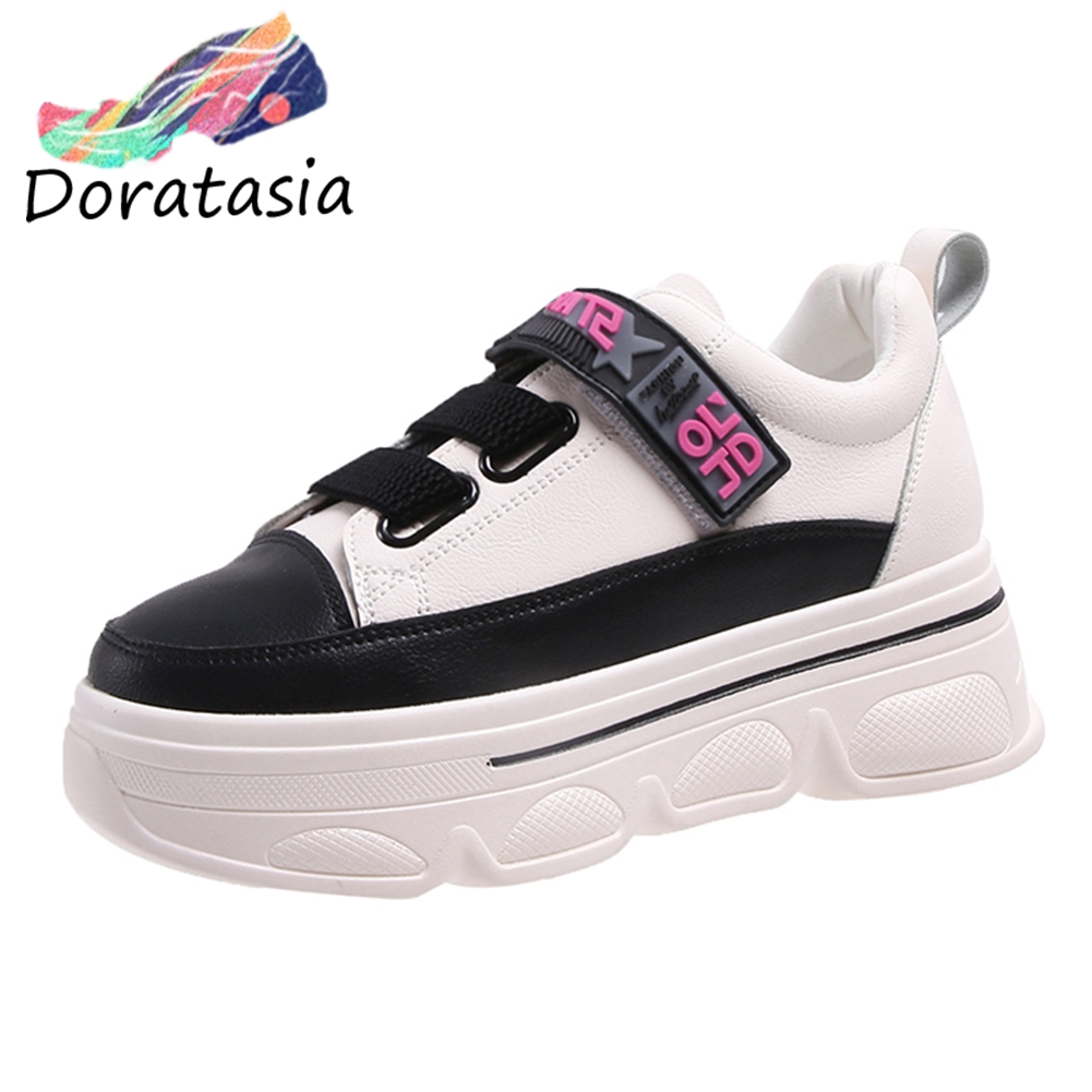 DORATASIA New Arrival Decorating Sneakers Women 2019 Autumn Sweet Girl Flat Platform Shoes Woman Casual Flats