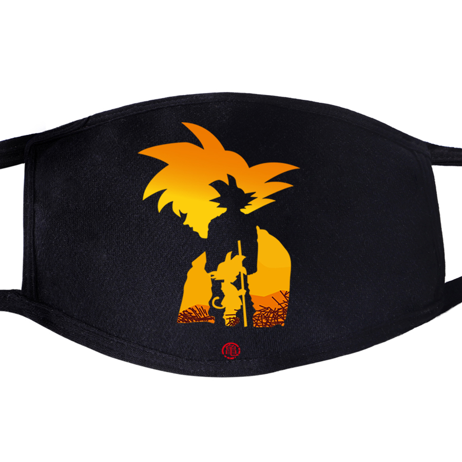 Dragon Ball Japanese Anime Dustproof Mouth Face Mask 2020 Unisex Black Cycling Anti-Dust Facial  Cover Washable Masks