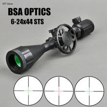 цена на BSA OPTICS STS 6-24x44 IR Rifle Scope Tactical Riflescope Side Big Wheel Parallax Adjust Optics Scope Sniper Hunting