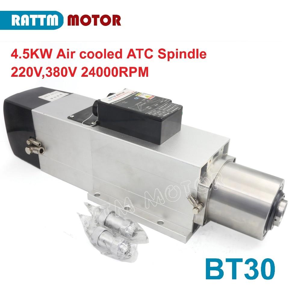 mudança do eixo motor 24000rpm bt30 380