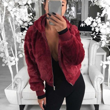 New Women's Autumn Winter Jacket Women Casual Long Sleeve Coat Female Solid Colo