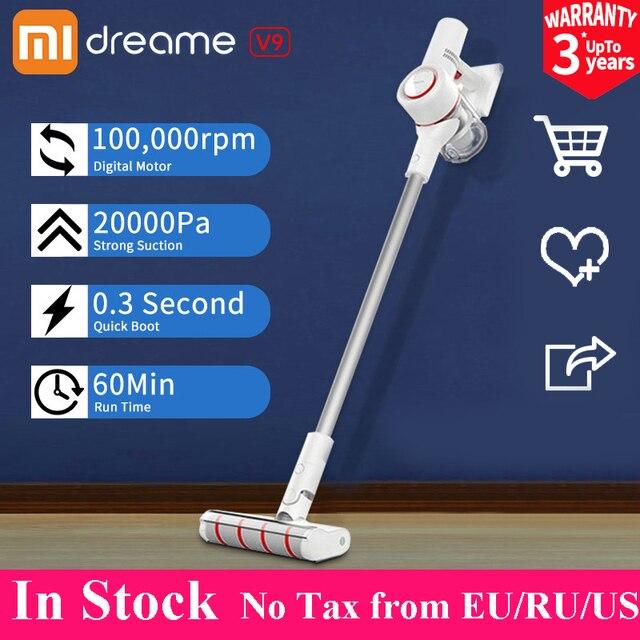 xiaomi Dreame V9 aspiradora de mano inalámbrica cyclone limpiador de palo inalámbrico para el hogar coche 20000Pa