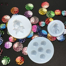 1PC Fish Scale Fish Expoxy Necklace Jewelry Pendants Tools Crystal Scale Jewelry Resin Molds for Jewelry Making Tool все цены