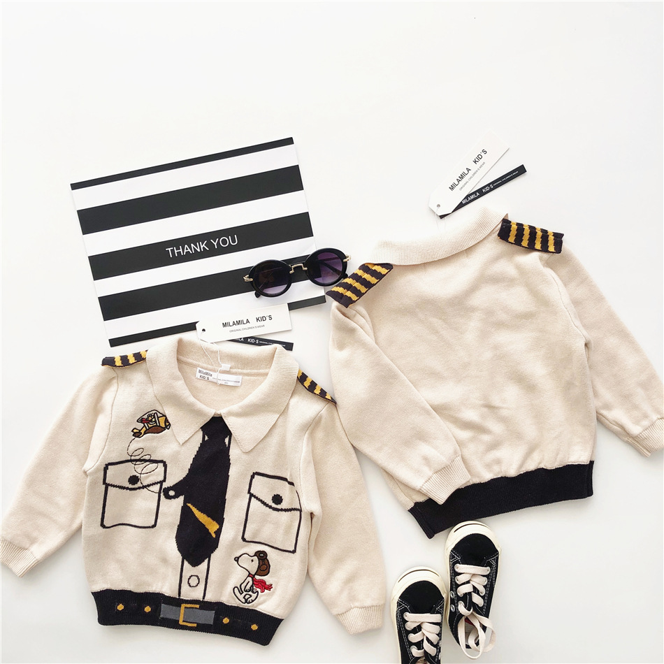 Tonytaobaby Autumn and Winter Clothing Children's Clothing Cotton Pilot Sweater  Boys Sweaters  Girls Sweaters