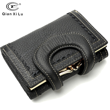 New Orignal Design Wallet For Women 2019 Genuine Leather Wallet Female Short Wallet Women Purse Coin Purse For Carteira Feminina