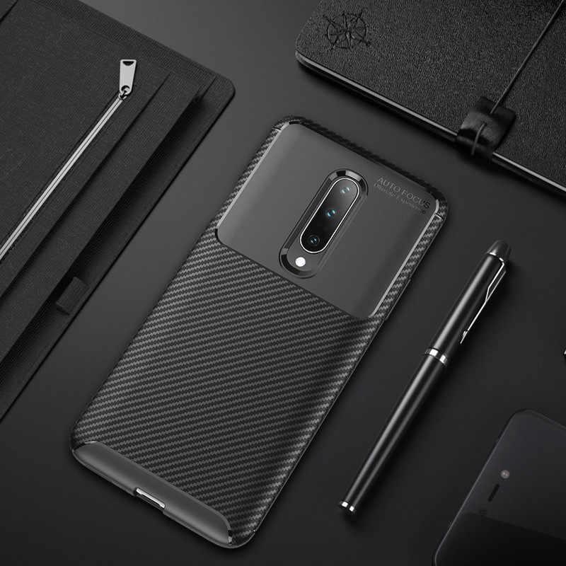 Yeni karbon Fiber telefon arka kılıfları OnePlus 7 Pro 6 6T kılıf kapak bir artı 7 Pro 6 6T yumuşak silikon koruyucu telefon kılıfları