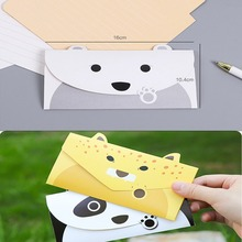 5pcs Animal Creative Wedding Invitation Cards Birthday Card Envelope Party Message Letter