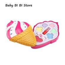 Дети Девочка принцесса макияж кейсы для косметики игрушечная коробка мороженое в форме косметичка ролевые игры для путешествий