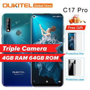 """OUKITEL C17 Pro 6.35""""19.5:9 Android 9.0 Mobile Phone MTK6763 Octa Core 4G RAM 64G ROM Dual Rear Triple Cameras 4G LTE Smartphone(China)"""