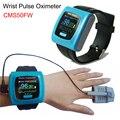 4000589412509 - Oxímetro de pulso CMS50FW Color OLED Pantalla de oxígeno en sangre SPO2 pulso Monitor de ritmo cardíaco + clip dactilar para adulto sonda + pulsera