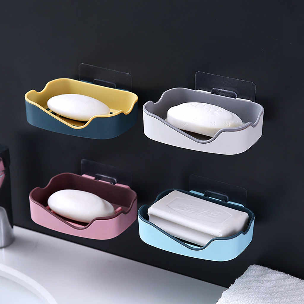 強力なシームレスペースト石鹸箱創造的な浴室の棚石鹸箱実用ホーム浴室付属品 зажигалка кальян 2019
