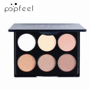 POPFEEL, 6 цветов, матовые тени для век, палитра косметики, водостойкие, мерцающие, обнаженные, Сияющие, макияж, пигменты, дымчатые тени для век, м...