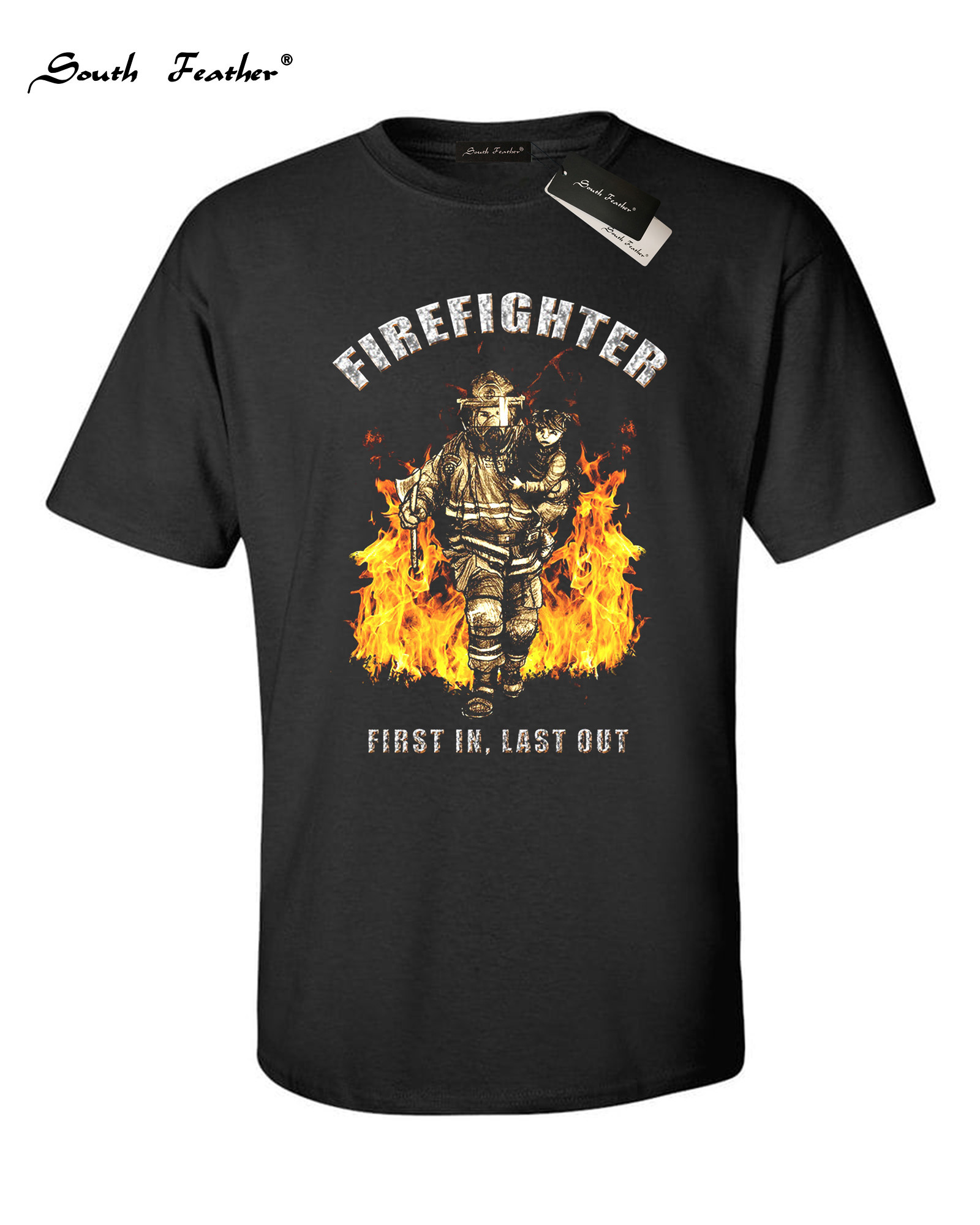 New Men Summer Classic T-Shirt Firefighter <font><b>Cult</b></font> Shirt Fireman Firefighter Rescue I Am A Firefighter T Shirt,Cool Fireman <font><b>TShirts</b></font> image