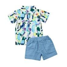 Toddler Baby Kids Boy Short Sleeve T-Shirt Top Pants 2PCS Outfit Clothes Summer Sunsuit