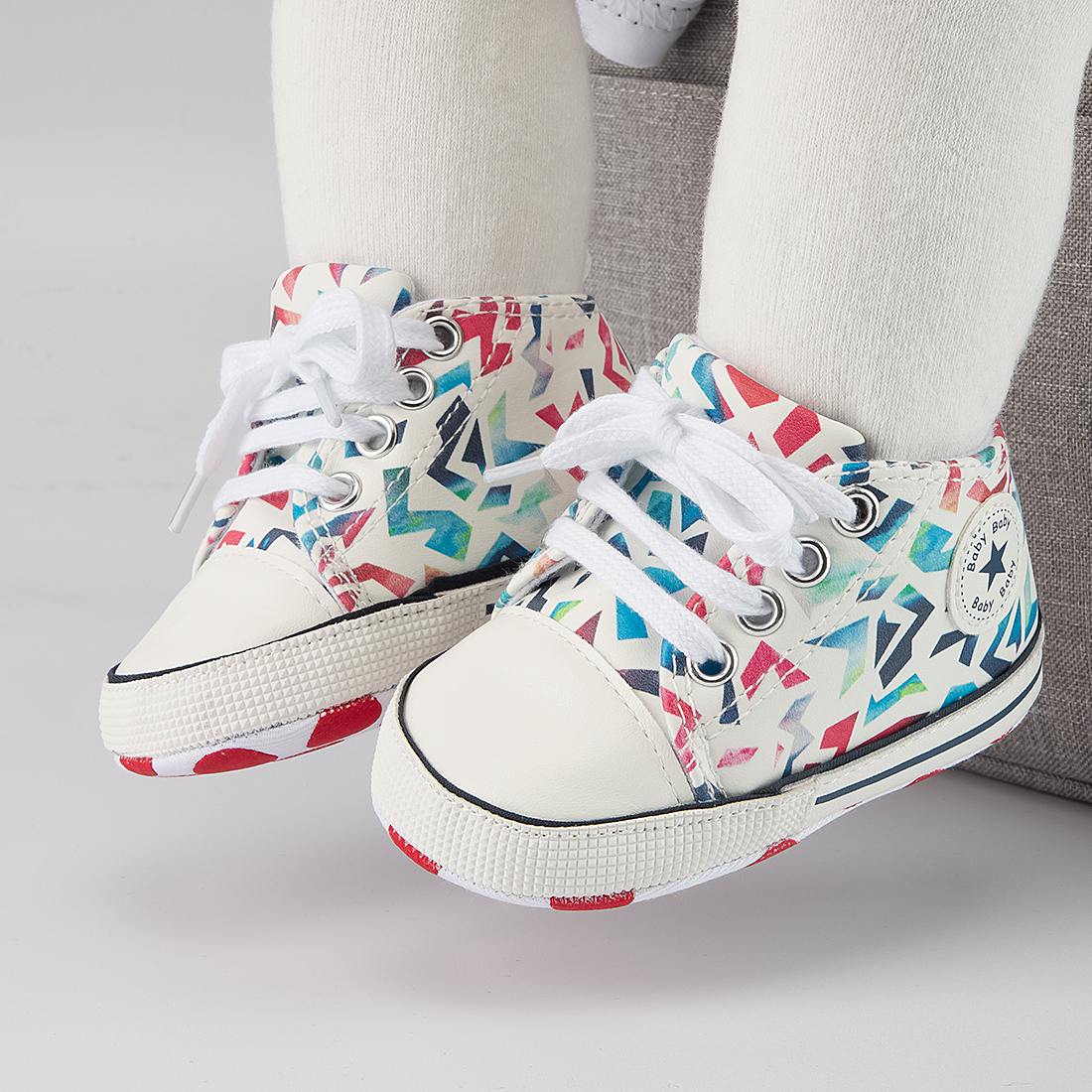 Baby Boys Girls First Walkers Shoes Infant Toddler Soft Sole Anti-slip Baby Shoes Newborn Canvas Baby Sports Sneakers Shoes 6
