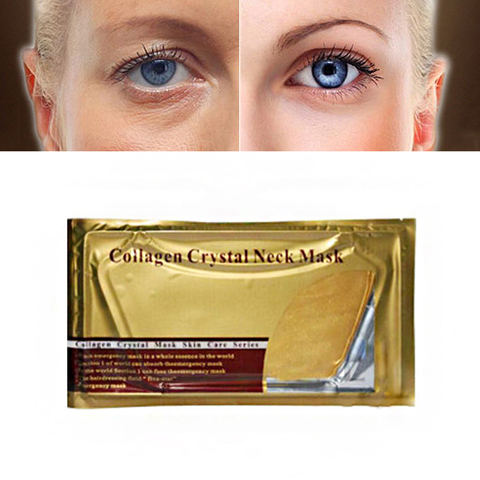 Gold Collagen Eye Neck Mask Crystal Whitening Anti-Aging Neck Care Moisturizing Remove Neck Wrinkle Skin Care Gel Patch TSLM2 Pakistan