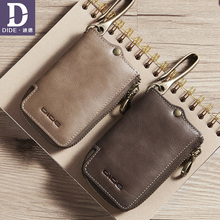 купить DIDE Fashion Car Key Holder Genuine Leather Card Holder Wallets Housekeeper Zipper Key Case Bag Unisex Solid Wallet Organizer по цене 956.97 рублей