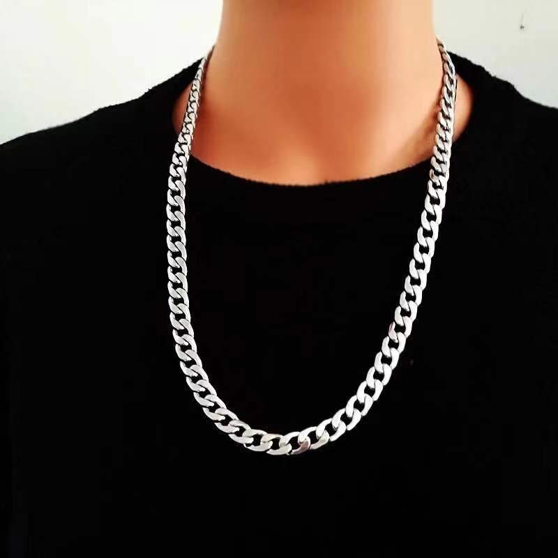 Free shipping Simple Men Twist Oblate Wide Alloy Chain Punk Style Necklace Party Rock Band Jewelry Birthday Gift New Accessories