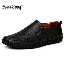 Jesień wygodne wsuwane męskie skórzane buty mokasyny Mocassin Homme Trend 2020 lato jazdy Plus rozmiar 49 50