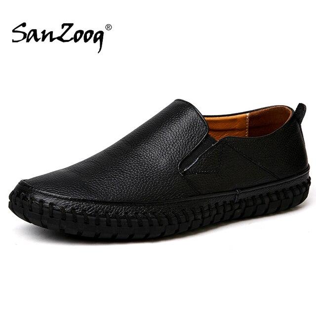 가을 캐주얼 슬립 남성 가죽 신발 Mocassin Homme Moccasins Trend 2020 여름 운전 플러스 사이즈 49 50