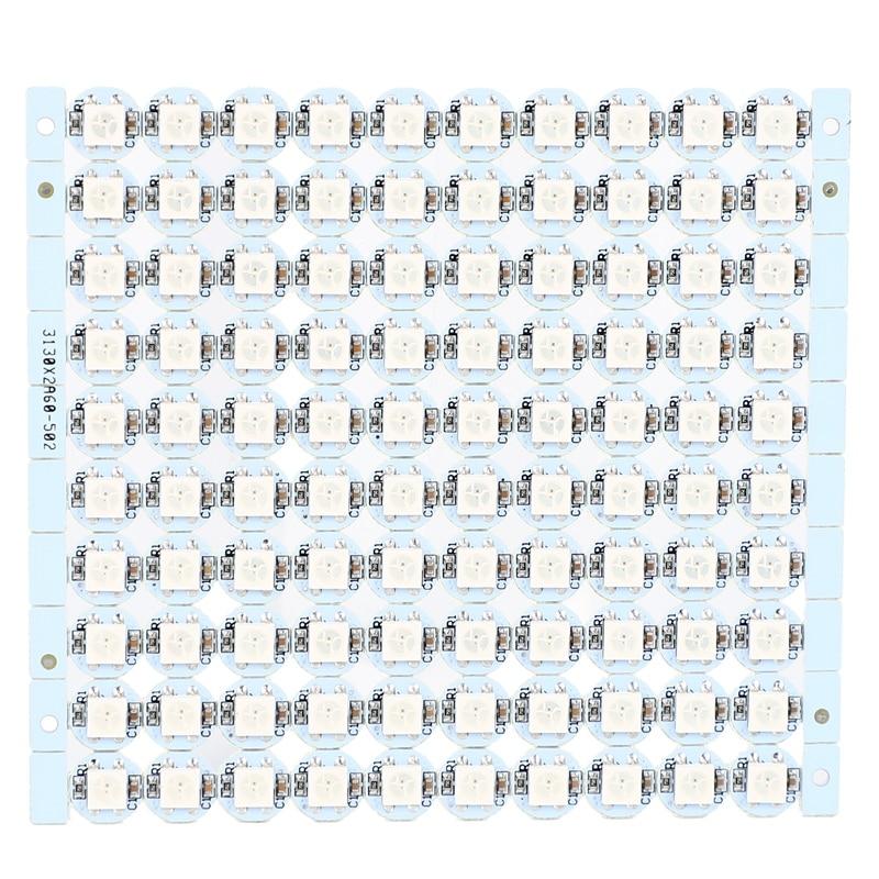 1 Pcs WS2812B SMD 5050 RGB LED Addressable Light String Board 100x4-Pin DC5V LED Pixels Light Strip