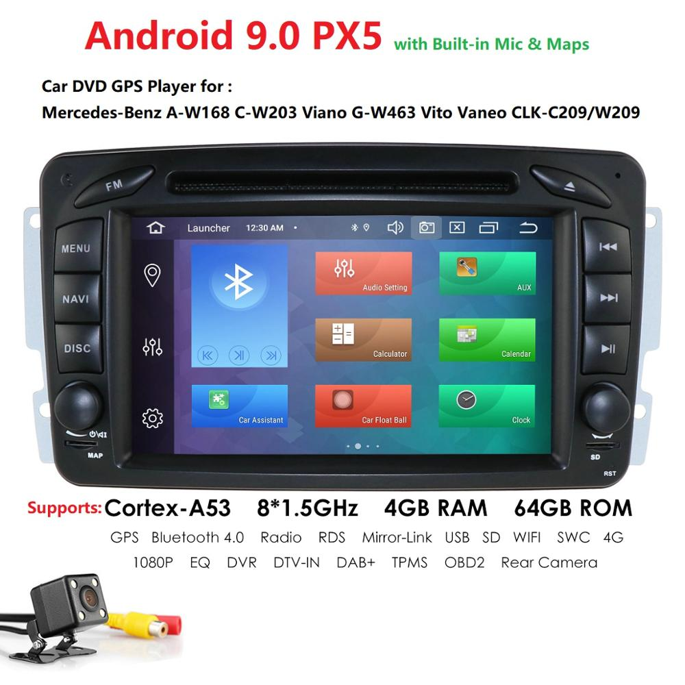 <font><b>Car</b></font> Multimedia Player DSP IPS PX5 Android9.0 GPS 2Din DVD Automotivo For Mercedes/Benz/W209/W203/M/<font><b>ML</b></font>/<font><b>W163</b></font>/Viano/W639/Vito <font><b>Radio</b></font> image