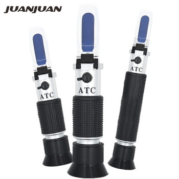 Refractometer All kinds Brix Alcohol Salinity Handheld Wine Beer Sugar Fruit Vegetables Juice with ATC 40%off - discount item  40% OFF Measurement & Analysis Instruments