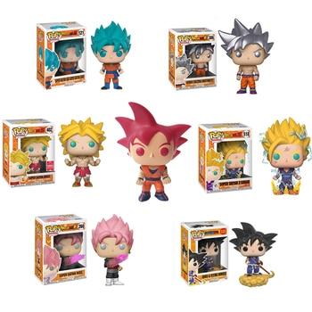 Funko POP Dragon Ball Super Saiyan Goku Vegeta Anime Figure Original Box PVC Action Figures Brinquedo Collectible Model Toys2F63
