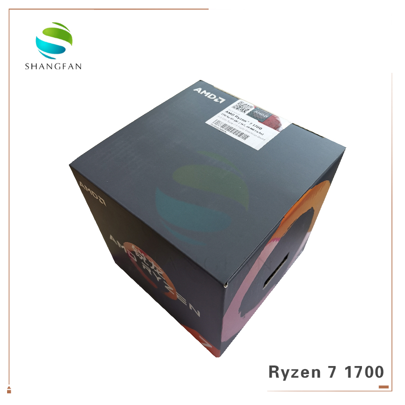 New AMD Ryzen 7 1700 R7 1700 3.0 GHz Eight Core Sixteen Thread CPU Processor 65W YD1700BBM88AE Socket AM4 with cooler fan-in CPUs from Computer & Office    1