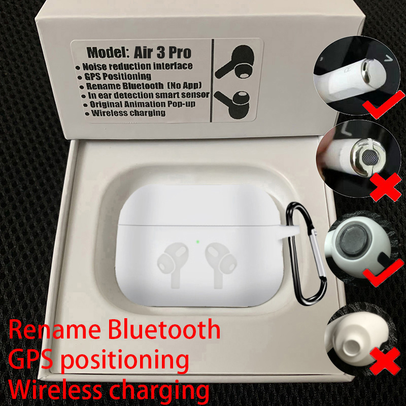 Air3 Pro TWS Bluetooth Earphones Wireless Headphones Earbuds With Samrt Sensor PK I90000 Pro <font><b>i200000</b></font> Tws Max For Black Pods image