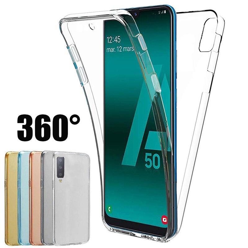 360 protección de la caja del teléfono para Samsung Galaxy A81 A91 A31 A41 A11 A12 A70E M01 M31S A21 M51 A21S A6S TPU cubierta de la 1